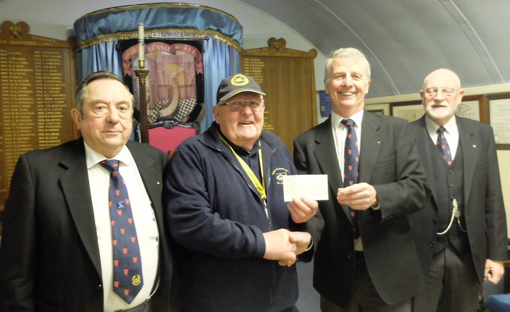 WB Rod Allen presents cheque to Dorset & Somerset Air Ambulance